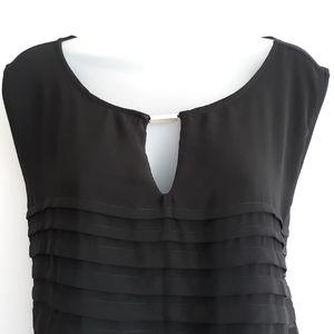 Avenue black sleeveless layered blouse